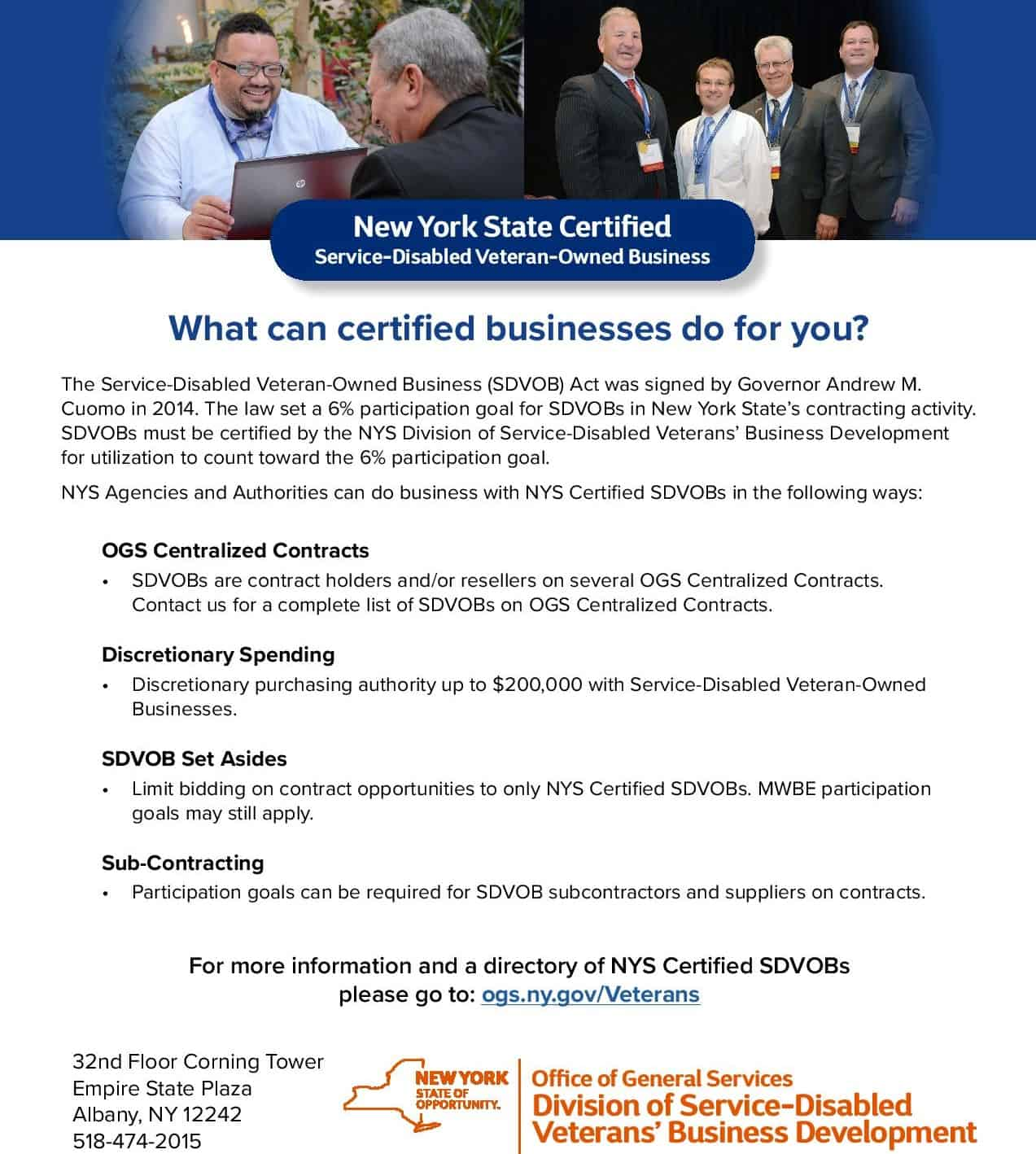 New York State Is Looking For Sdvobs Nationwide To Certify